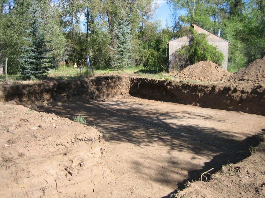 Excavation is complete.  Ready to start forming the footings.