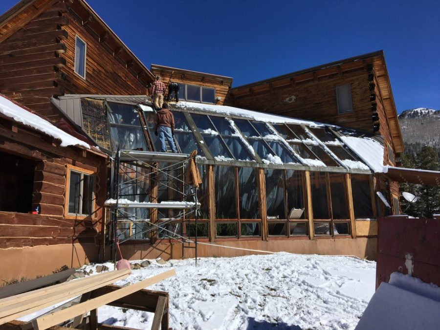 This Atrium in Durango is going to be re-built and new Energy efficient windows installed.
