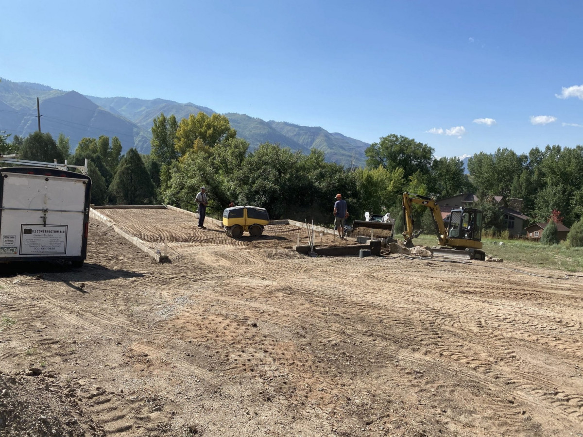 Backfill & slab prep almost finished.