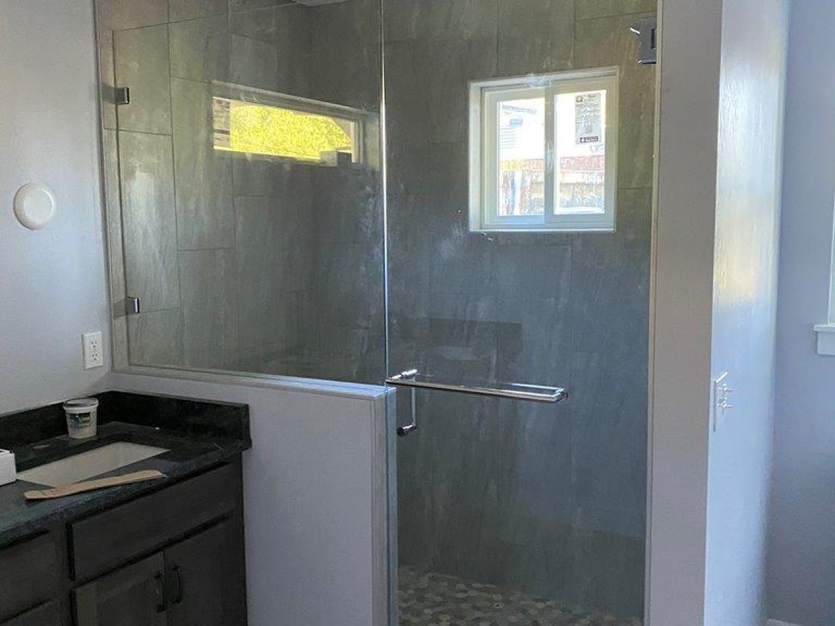 Nice tile work in the master shower.